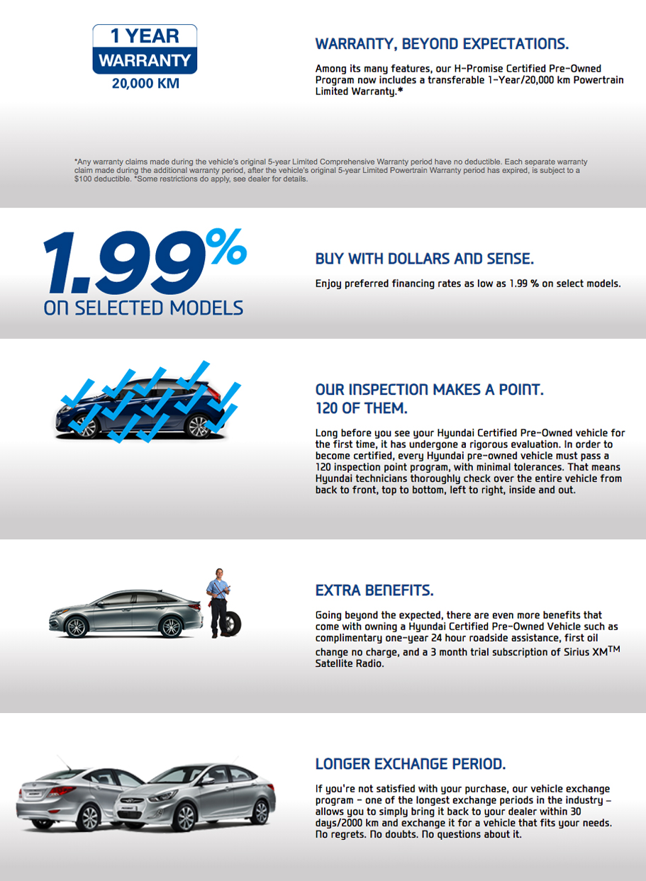 Hyundai Certified Pre-Owned Vehicles
